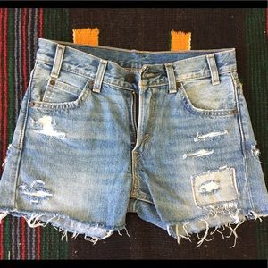 Levi's 505c orange tab shorts